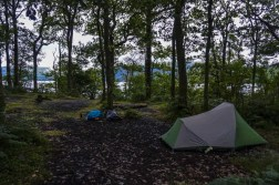 A lovely lochside pitch at Sallochy Campground.