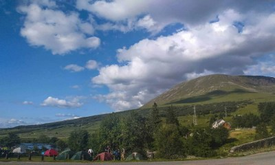 Lovely camping at Bridge of Orchy.