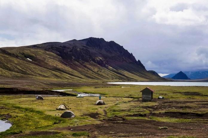 Camping at Álftavatn on the Laugavegur Trail