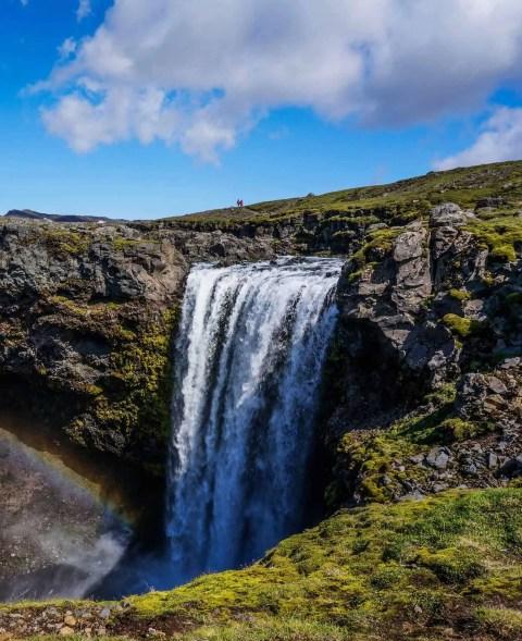 The second half of the Fimmvörðuháls Trail passes no less than 17 waterfalls!