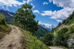 Views of Mont Blanc on the way up Col de Balme