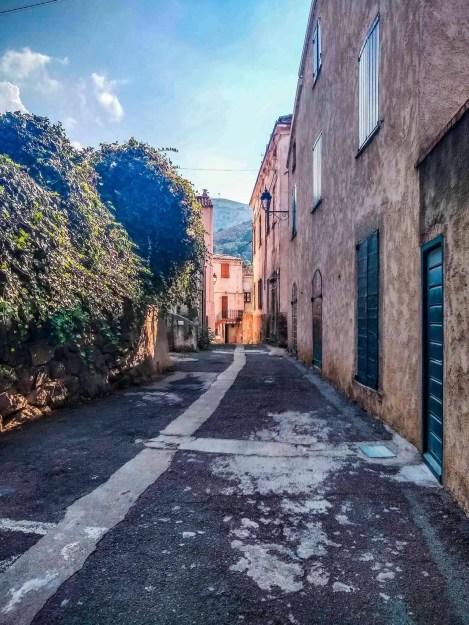 A street in Calenzana, Corsica.
