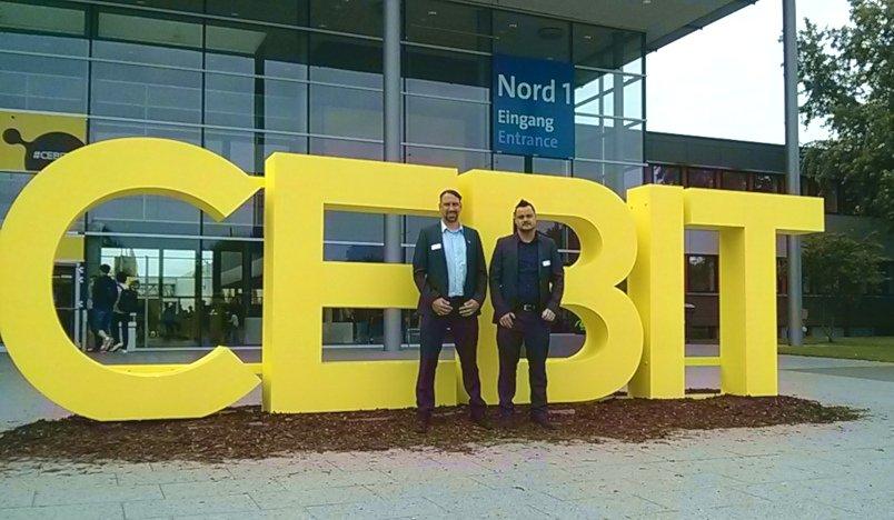 CEBIT 2018 Eingang Nord MST und PC - CEBIT 2018