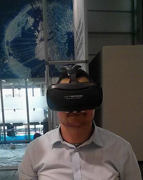 CEBIT 2018 PC mit VR Brille - CEBIT 2018