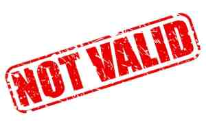 Not Valid