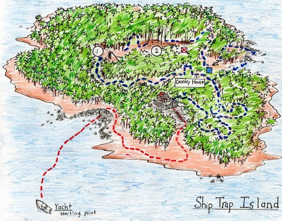 Drawing Island Ship Trap Map