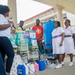 Organizers Of Women In Worship Donates Cash & Items To Cervical Cancer Unit At Korle Bu Teaching Hospital