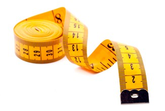 tape measure used for checking clothing sizes