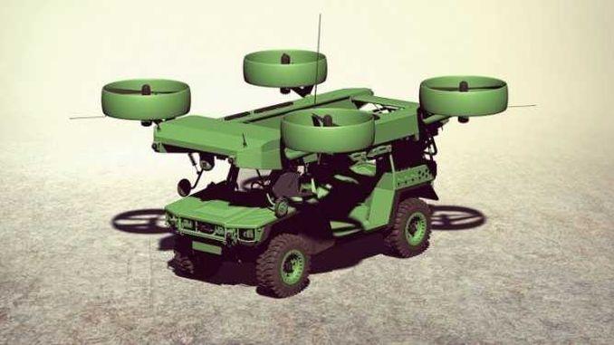 В Україні представили концепт літаючої бронемашини