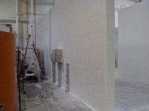 Sanitation Room Walls Fiberglassed By TMI Coatings