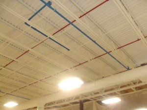 Oily and dirty ceiling coated by TMI Coatings