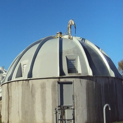 Brodhead Dome before TMI Coatings works on it.