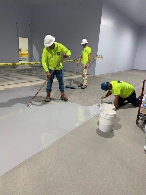 Cementitious urethane flooring protects new concrete at seafood distributor