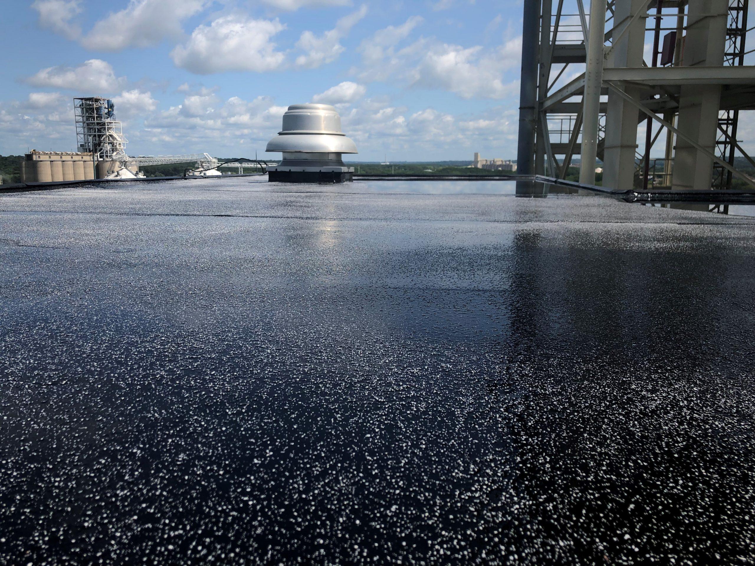 Photo Of TMI Coatings Concrete Silo Roof Project