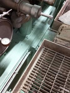 Machinery painting to reduce corrosion