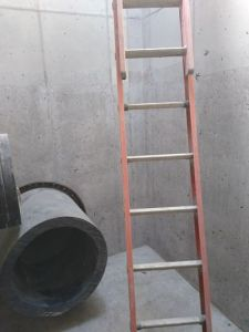 Wet well prepared for coating adhesion