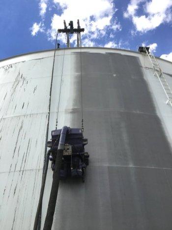 TMI Coatings Paint Removal Robotic Blast Machine