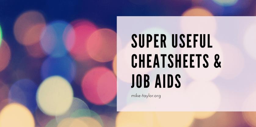 12 super useful cheatsheets