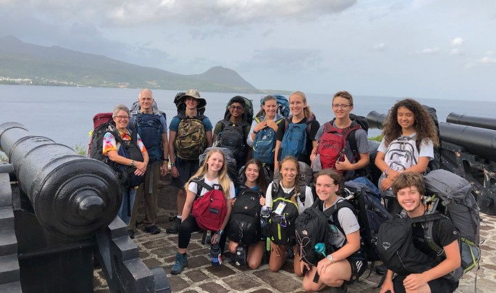 Photo of TMI students and faculty who attended a research expedition in June 2019 in Dominica