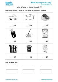 CVC Words - Initial Sounds 2 - TMK Education