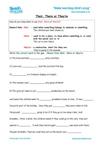 Spelling There Their They Re Worksheet - Kidz Activities