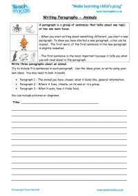 Learning How To Write A Paragraph Worksheet