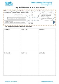 Long Multiplication tu x tu (extra practise) - TMK Education