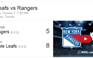 Game 2: Toronto Maple Leafs vs New York Rangers