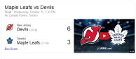 Game 4: Toronto Maple Leafs vs New Jersey Devils
