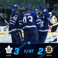 Game 18: Toronto Maple Leafs VS Boston Bruins