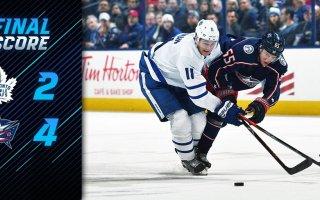 Game 36: Toronto Maple Leafs VS Columbus Blue Jackets