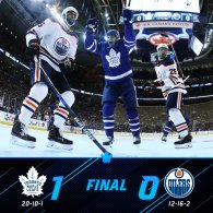 Game 31: Toronto Maple Leafs VS Edmonton Oilers