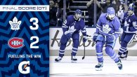 Game 1: Montreal Canadiens @ Toronto Maple Leafs (W 3-2)