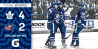 Game 21: Columbus Blue Jackets VS Toronto Maple Leafs (W 4-2)