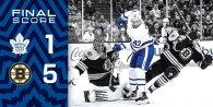 Game 17: Toronto Maple Leafs VS Boston Bruins (L 5-1)