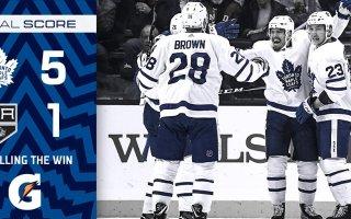 Game 18: Toronto Maple Leafs VS Los Angeles Kings (W 5-1)