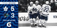 Game 19: Toronto Maple Leafs VS San Jose Sharks (W 5-3)