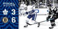 Game 30: Toronto Maple Leafs VS Boston Bruins