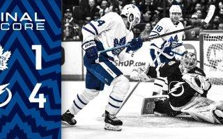 Game 32: Toronto Maple Leafs VS Tampa Bay Lightning (L 4-1)