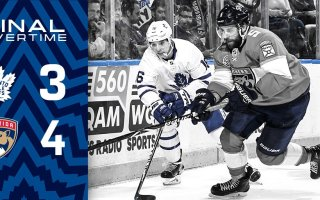 Game 33: Toronto Maple Leafs VS Florida Panthers (L 4-3 OT)