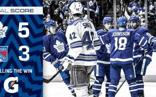 Game 36: New York Rangers VS Toronto Maple Leafs (W 5-3)