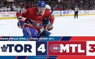 Game 54: Toronto Maple Leafs VS Montreal Canadiens (OTW 4-3)