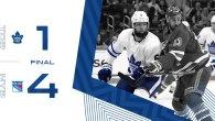 Game 55: Toronto Maple Leafs VS New York Rangers (L 4-1)