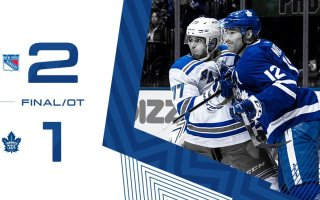 Game 75: New York Rangers VS Toronto Maple Leafs (OTL 2-1)