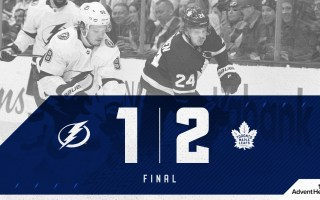 Game 70: Tampa Bay Lightning @ Toronto Maple Leafs (W 2-1)