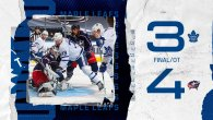 Blue Jackets vs Maple Leafs: Game 3 (L 4-3)