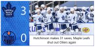 Game 23: Toronto Maple Leafs 3 – 0 Edmonton Oilers