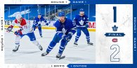 First Round, Game 1: Montreal Canadiens 2 – 1 Toronto Maple Leafs