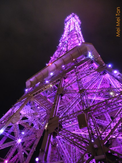 Travel-Macao-Eiffel Tower at Parisian Macao-Night-20180210
