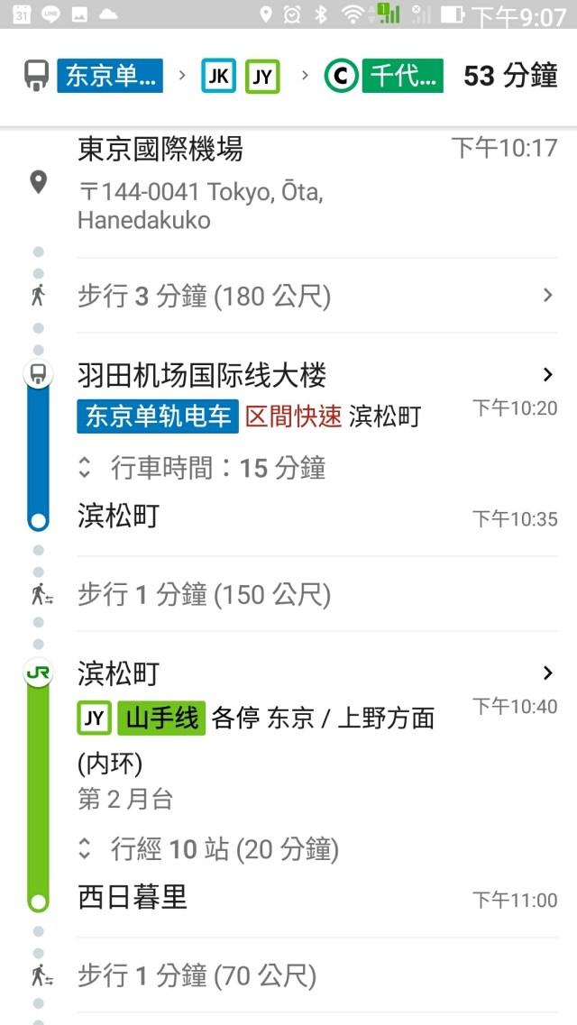 成田、羽田機場交通 很簡單,問Google就知道了!